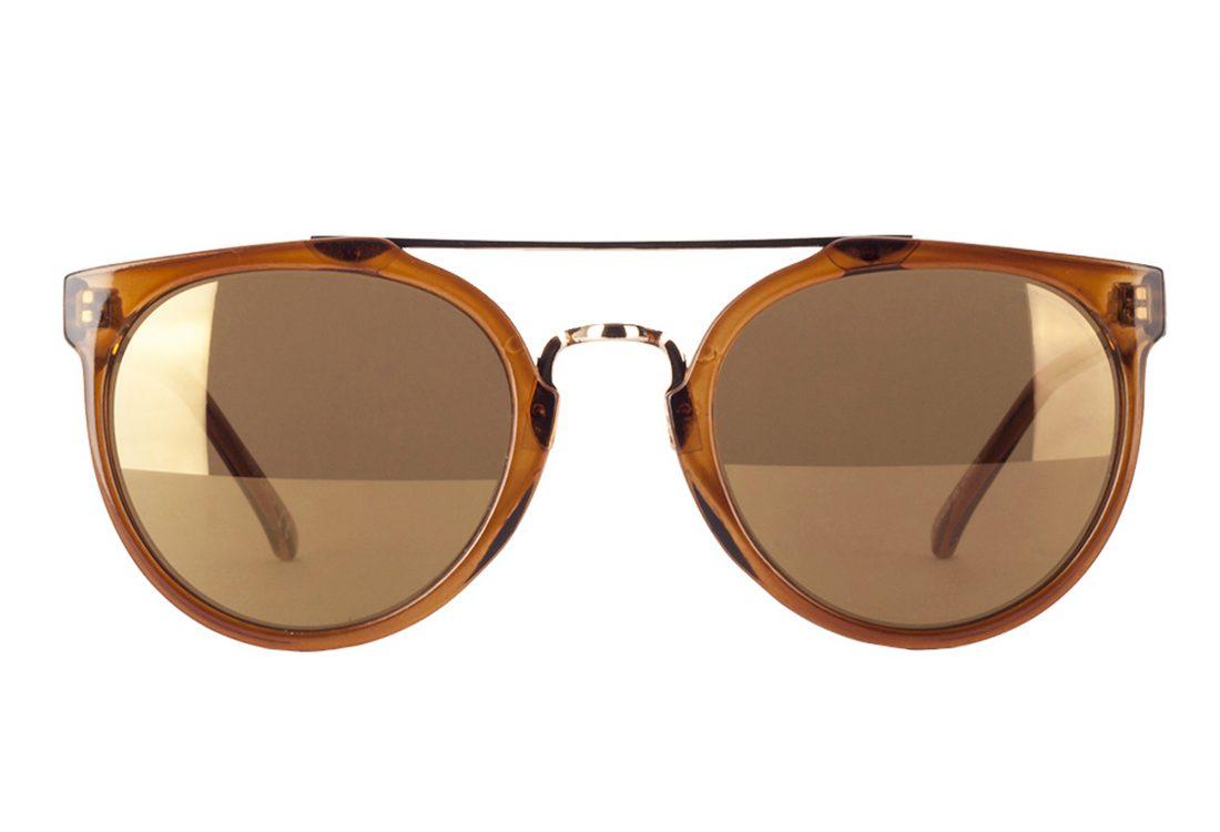 11619-D--Soo-Hie-donker-en-helder-bruine-zonnebril-met-goud-bruine-glazen-kopen-bij-Brillenkopen.nl-voorkant