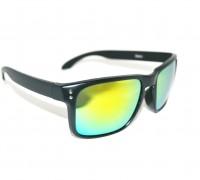 Holbrook-Matzwart-Geel-zonnebril-matzwart-montuur-gele-UV-protectie-spiegelglazen-Brillenkopen.nl-rechteraanzicht