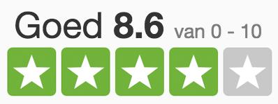 8.6 sterren beoordeling trustpilot brillenkopen nl