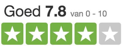 8 sterren beoordeling trustpilot Sjaalskopen.nl